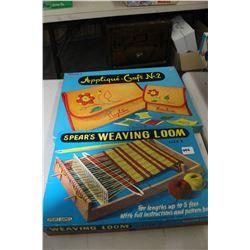 Childrens Weaving Loom & an Applique Craft Set No. 2
