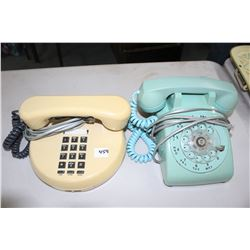 1977 Round Push Button and 1982 Dial Phones