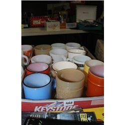 Flat of Fire King Coffee Mugs (3 are regular mugs - not Fire King)