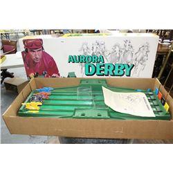 Aurora Derby Horse Racing Game - Wonderful Vintage Piece w/Instructions