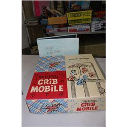 Circa 1950's Crib Mobile & a Baby's Early Days Photo Album