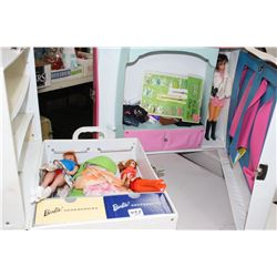 2 Barbie Cases with Contents
