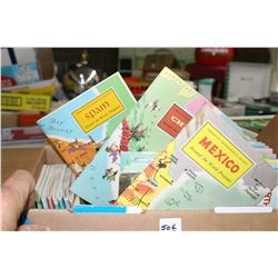 Box of Books of Places in the World