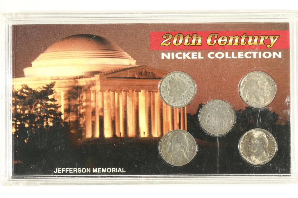 20TH CENTURY NICKEL COLLECTION CONTAINS: 1869