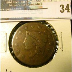 1835 U.S. Large Cent, G/AG.