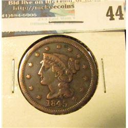 1845 U.S. Large Cent, Fine.