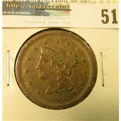 1852 U.S. Large Cent, Very Fine.