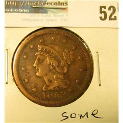 1853 U.S. Large Cent, Fine, some corrosion.