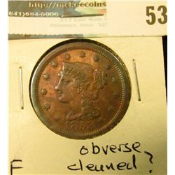 1853 U.S. Large Cent, Very Fine, obverse cleaned?