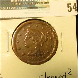 1854 U.S. Large Cent, Fine, cleaned?