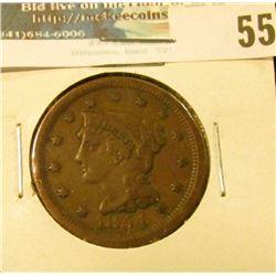 1854 U.S. Large Cent, Fine.