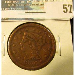1856 U.S. Large Cent, Fine.