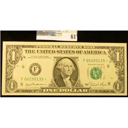 $1 note Series 1981 Star Replacement Atlanta Note Choice Uncirculated.