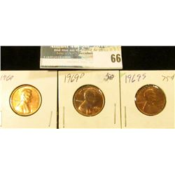 1909 P, 10 P, 11 P, 12 P, 13 P, & 14 P Lincoln Cents, all pre World War I.