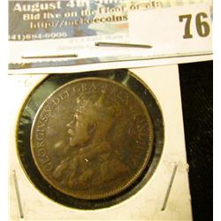 1912 Canada Large Cent, Fine.