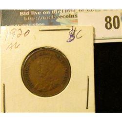 1920 Canada Small Cent.