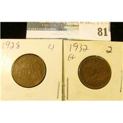 1928 & 32 Canada Small Cents.
