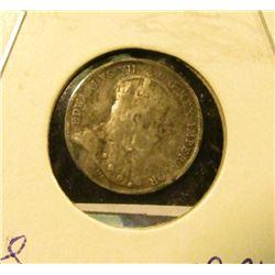 1902 Silver Canada Half Dime.