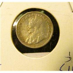 1913 Silver Canada Half Dime.