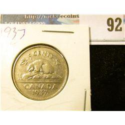 1937 dot Canada Nickel, slightly better grade.