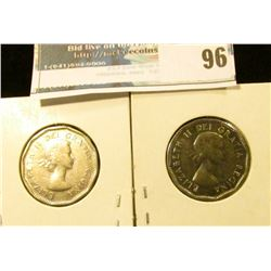 1956 & 57 High Grade Canada Nickels.