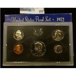 1972 S U.S. Cameo Proof Set in original condition