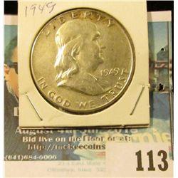 1949 P High-grade Silver Franklin Half Dollar.