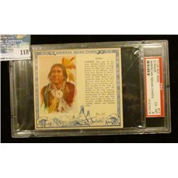"PSA slabbed and graded T129 RED MAN ""Striker American Indian Chiefs"" No. 17. EX-MT. 6.  Serial numbe"