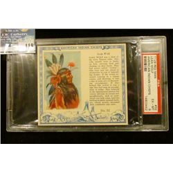 "PSA slabbed and graded T129 RED MAN ""Lean Wolf American Indian Chiefs"" No. 17. EX-MT. 6.  Serial num"