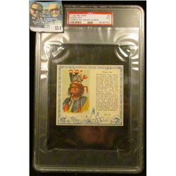 "PSA large slabbed and graded T129 RED MAN ""Noon Day American Indian Chiefs"" No. 6. NM. 7.  Serial nu"