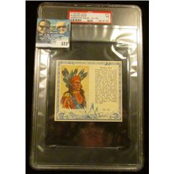 "PSA large slabbed and graded T129 RED MAN ""Rushing Bear American Indian Chiefs"" No. 15. NM. 7.  Seri"