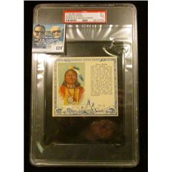"PSA large slabbed and graded T129 RED MAN ""Always Riding American Indian Chiefs"" No. 12. NM. 7.  Ser"