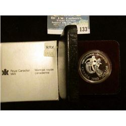 1983 Royal Canadian Mint Proof-like Silver Dollar.