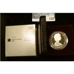 1985 Royal Canadian Mint Proof-like Silver Dollar.