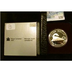 1986 Royal Canadian Mint Proof-like Silver Dollar.