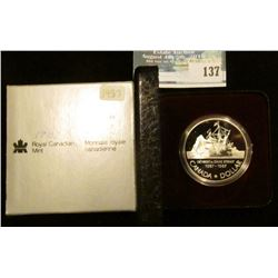 1987 Royal Canadian Mint Proof-like Silver Dollar.