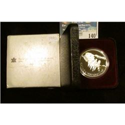 1992 Royal Canadian Mint Proof-like Sterling Silver Dollar.