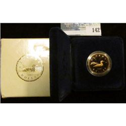 1987 Royal Canadian Mint Proof Loon One Dollar Coin.