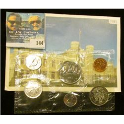 1987 Royal Canadian Mint Brilliant Uncirculated Set of Coins.