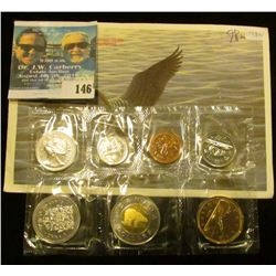 1998 W Royal Canadian Mint Brilliant Uncirculated Set of Coins.