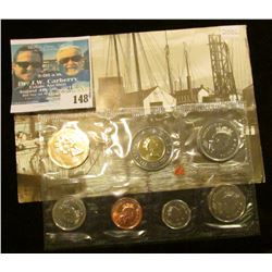 2002 Royal Canadian Mint Brilliant Uncirculated Set of Coins.
