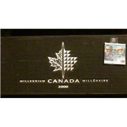 2000 Royal Canadian Mint Millennium  Coins- 12 Quarters Proof Sterling Silver with black clam case a