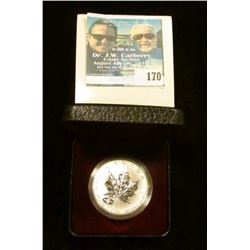 "1998 $5 Maple Leaf ""Royal Canadian Mint 90th Anniversary"" Specimen finish with box, one troy ounce o"