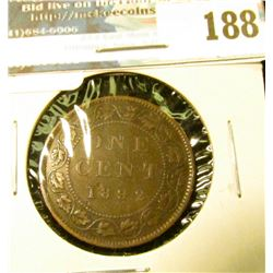 1892 Canada Large Cent. Fine.