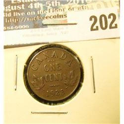 1923 Canada Maple Leaf Cent. Key date. VF, small dig.
