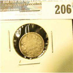 1886 Canada Five Cent Silver. Good.