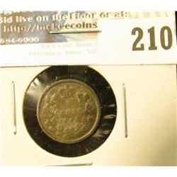 1893 Canada Five Cent Silver. VG.
