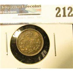 1906 Canada Five Cent Silver. EF.
