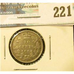 1882H Canada Silver Dime. VF.