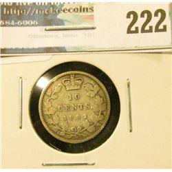 1882H Canada Silver Dime. Good.